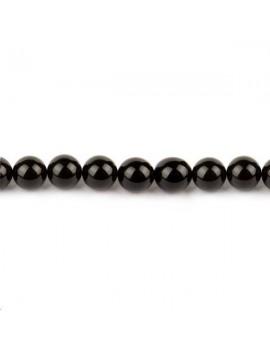 Onyx rond 14mm noir lot de 2 pièces