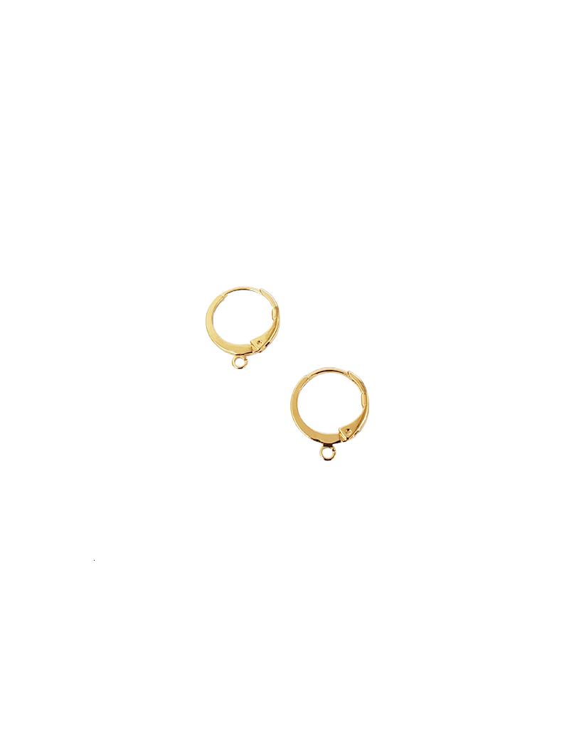 dormeuse ronde12mm avec anneau doré