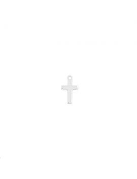Pampille croix avec anneau 11x6mm