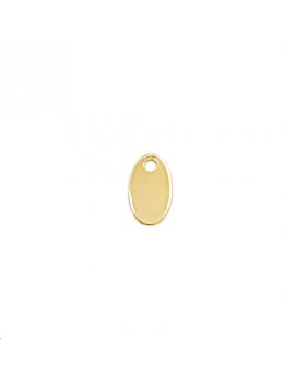 Pampille ovale 9x5mm un trou doré
