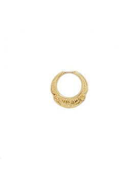Pampille créole décorée 14 mm doré