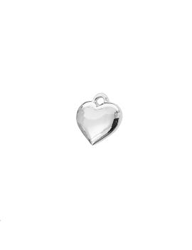 pampille coeur 8x7.5mm pl argent