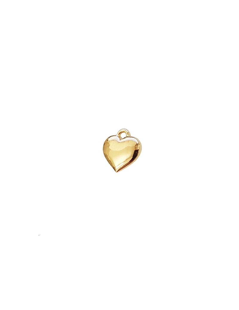 pampille coeur 8x7.5mm doré