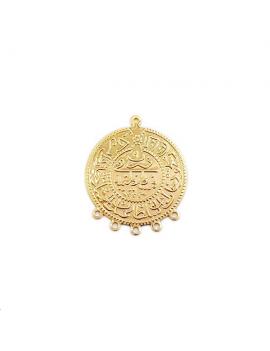 Pendentif médaille calligraphie arabe 30mm