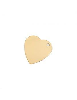 Pendentif coeur 27mm lisse 1 trou