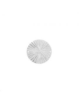 Pendentif rond estampé décor rayons