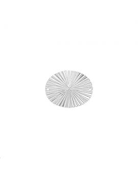 Pendentif ovale estampé décor rayon