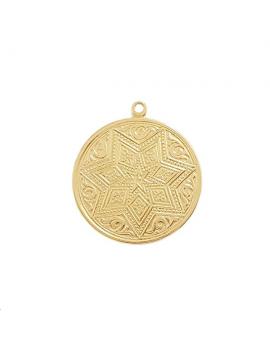 Pendentif médaille décor étoilé