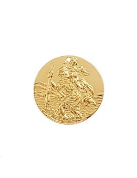 Pendentif médaille Saint Christophe