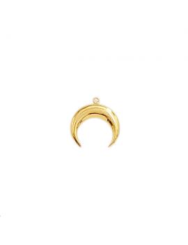 Pendentif corne 20mm doré