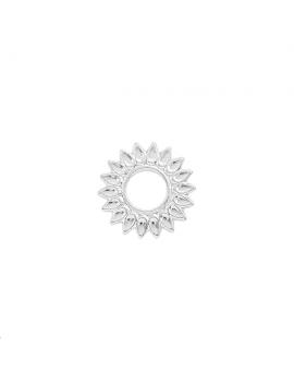 Pendentif soleil 15mm plaqué argent
