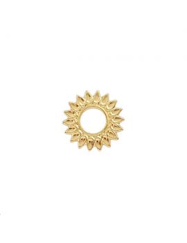 Pendentif soleil 15mm doré