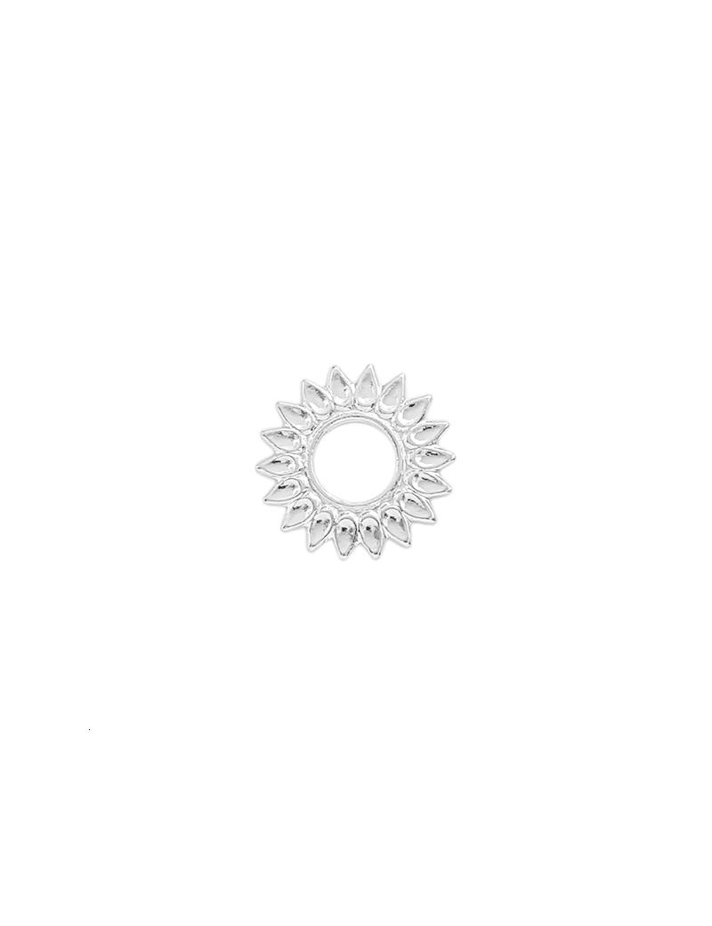 Pendentif soleil 20mm plaqué argent