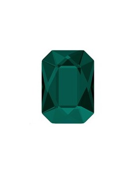 Emerald cut flat back 14x10mm