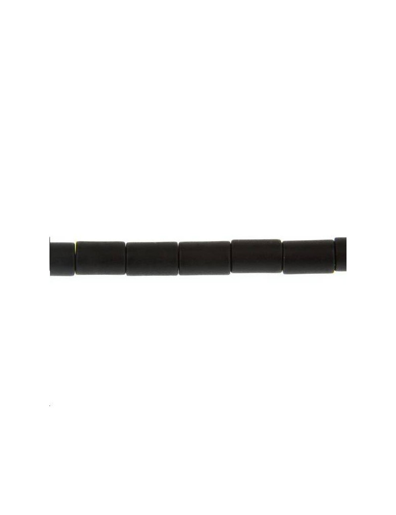 Onyx cylindre 6x4mm mat lot de 2 pièces