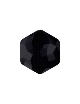 Fantasy hexagon 7,8x8,7mm jet