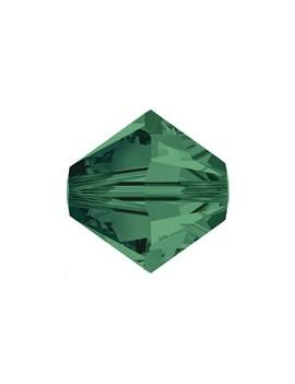 Lot bicônes 3 mm emerald