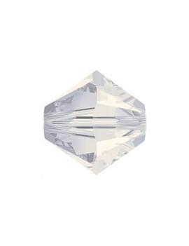 Lot bicônes 3 mm white opal
