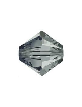 Lot bicônes 4 mm black diamond