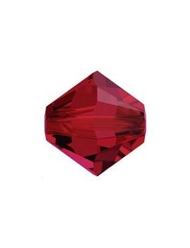 Lot bicônes 4 mm scarlet