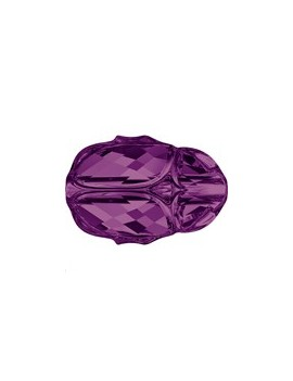 Scarab bead 12mm amethyst
