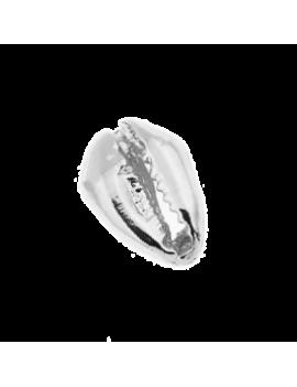 Cauri 13x9mm plaqué argent à accrocher à l'aide d'un anneau. Article non perçé.