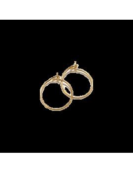 Créoles 15mm 1 anneau doré  vendues par paire