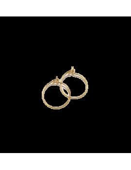 Créoles 12mm 1 anneau  doré  vendues par paire