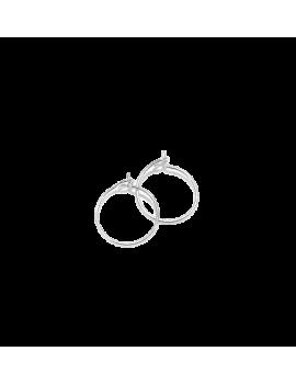 Créoles 12mm 1 anneau plaqué argent  vendues par paire