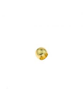 Perle de serrage 2mm dorée à l'or fin 24 carats