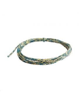 Coton ciré métallisé turquoise/or