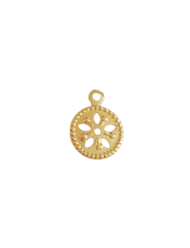 Pampille ronde 7mm 1 anneau