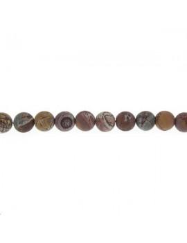 Rhyolite dendritique du Sonoran 9-10mm mate lot de 2 pièces
