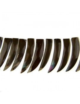Nacre corne 50x12mm marron lot de 1 pièce