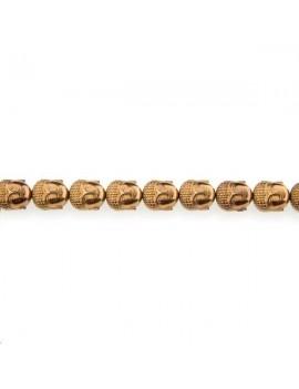 Hématite bouddha 10x9mm bronze lot de 1 pièce