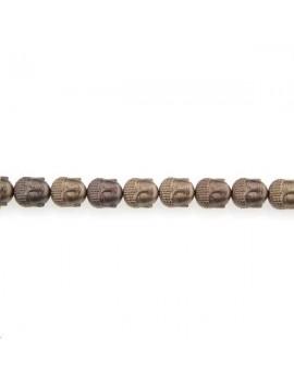 Hématite bouddha 10x9mm graphite lot de 1 pièce