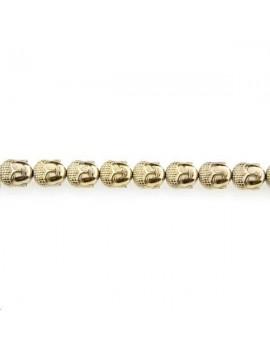 Hématite bouddha 10x9mm doré clair lot de 1 pièce