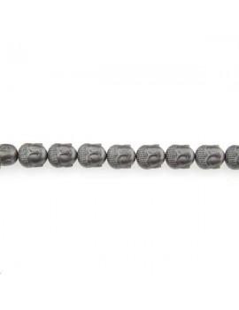 Hématite bouddha 10x9mm étain mat lot de 1 pièce