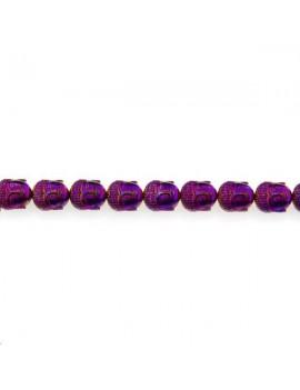 Hématite bouddha 10x9mm violet lot de 1 pièce