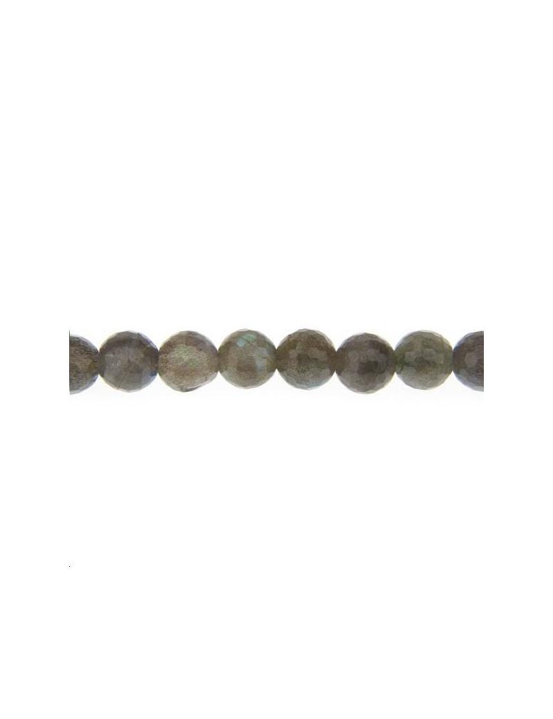 Labradorite ronde facettes 8mm lot de 2 pièces