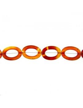 Cornaline anneau oval 25x35mm