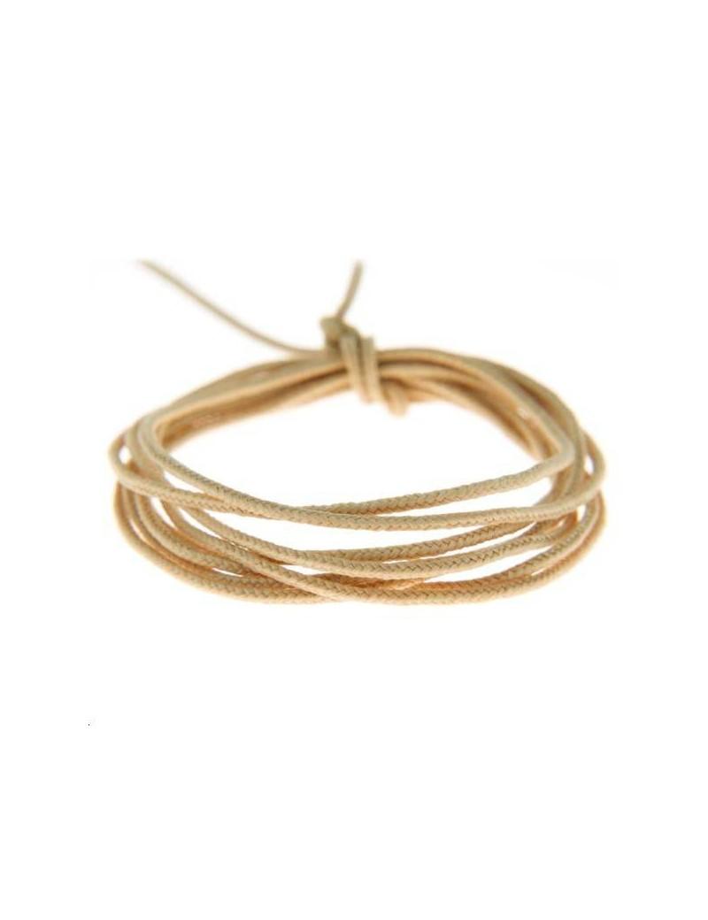 Fashion cord diamètre 0,8mm doré vendu au mètre