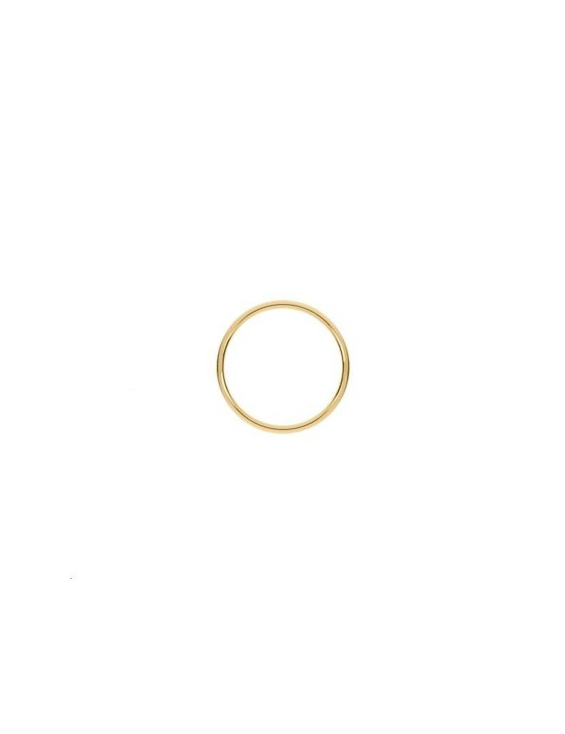 Anneau soudé 15mm doré