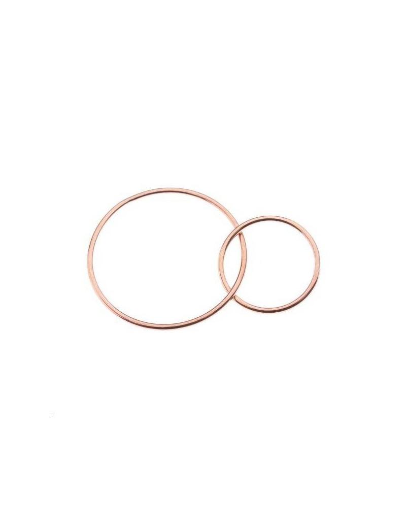 Anneaux entrelacés 15 et 23mm or rose