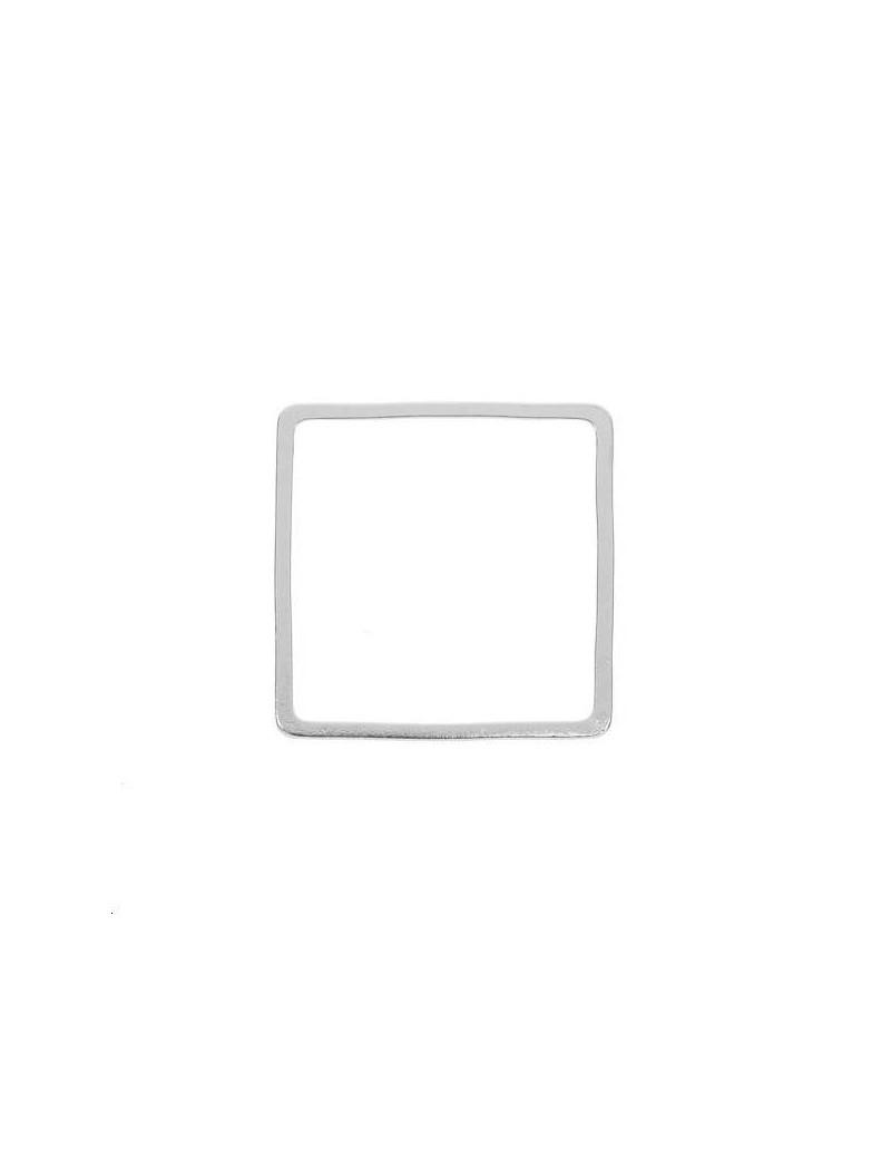 Anneau fil carré 18x18x1mm plaqué argent