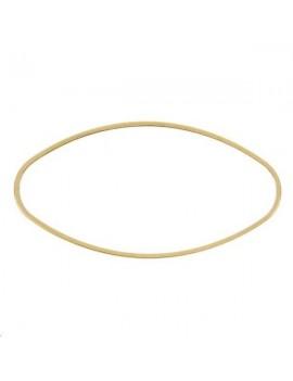 Anneau oval fil carré 40x20x1mm