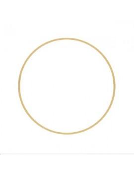 Anneau fil carré 50x1mm doré