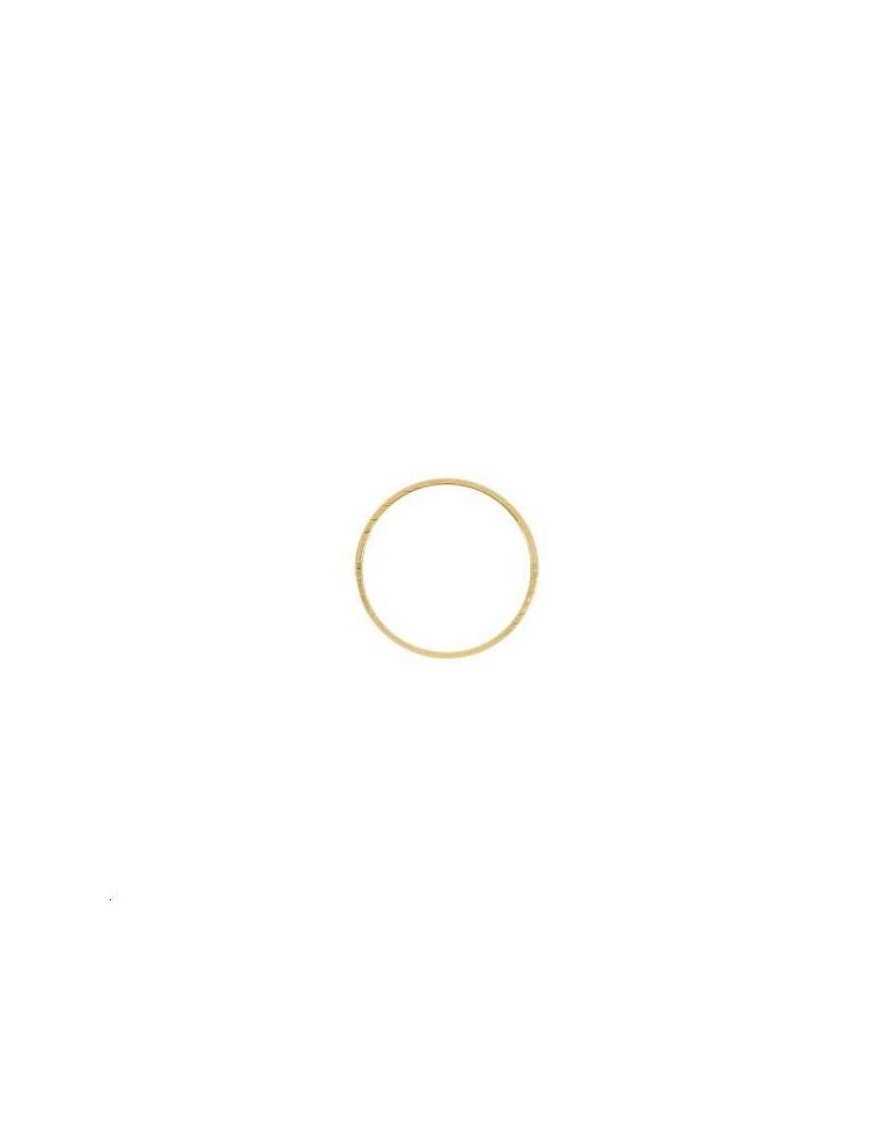 Anneau fil carré 18x1mm doré