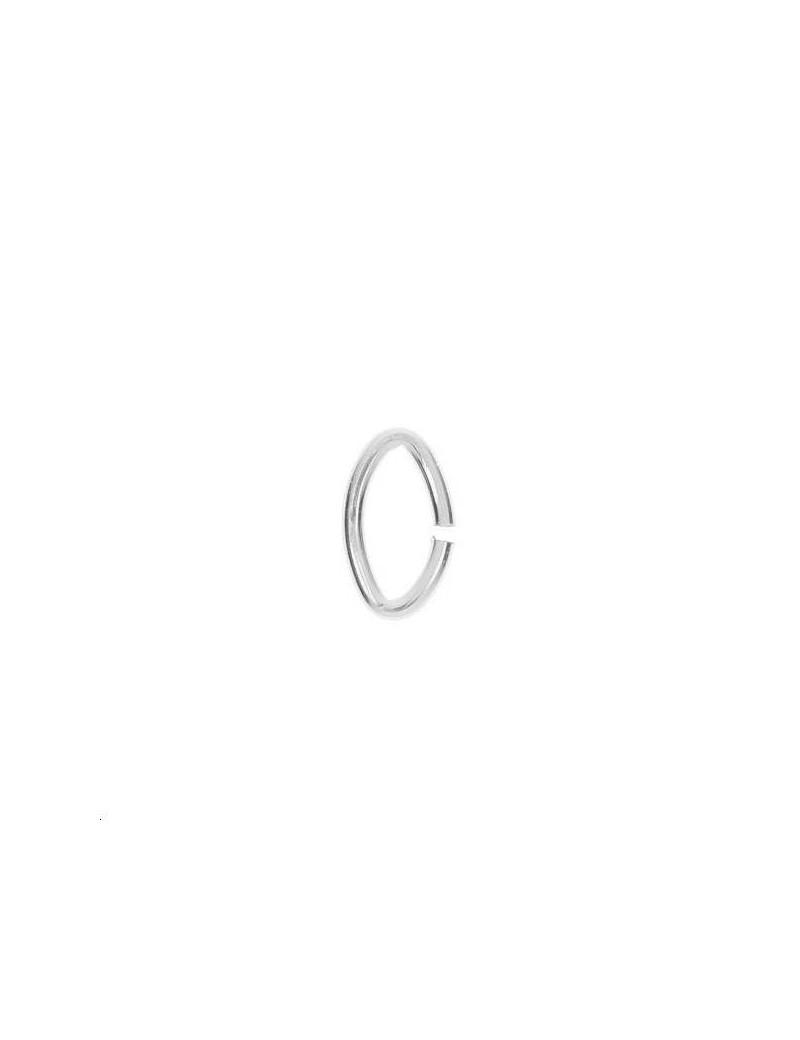 Anneau oval 6x4mm plaqué argent