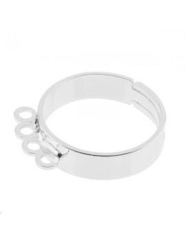 Bague 4 anneaux plaqué argent